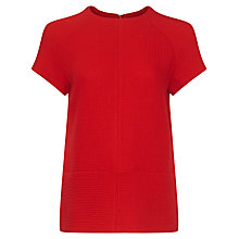 Buy Jaeger Wool-Blend Pocket Detail Top, Cherry Online at johnlewis.com