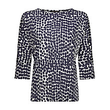 Buy Jaeger Abstract Spot Print Top, Navy/Ivory Online at johnlewis.com