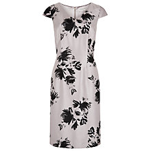 Buy Jacques Vert Floral Shadow Dress, Opal Online at johnlewis.com