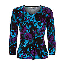 Buy Precis Petite Floral Print Cardigan, Teal Online at johnlewis.com