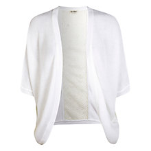 Buy Miss Selfridge Lace Back Cocoon Cardigan, White Online at johnlewis.com