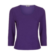 Buy Precis Petite Textured Top, Purple Online at johnlewis.com