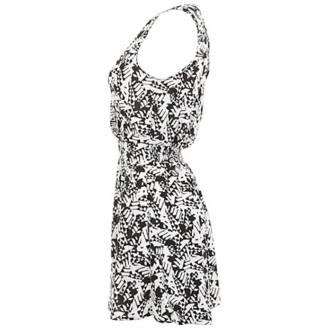 Buy Miss Selfridge Mono Print Playsuit, White/Black Online at johnlewis.com