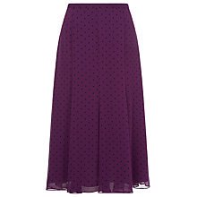 Buy Jacques Vert Spot Print Panel Skirt, Byzantium Online at johnlewis.com