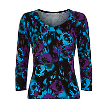 Buy Precis Petite Floral Print Jumper, Purple Online at johnlewis.com