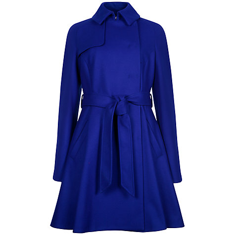 Buy Ted Baker A-line Trench Coat, Bright Blue Online at johnlewis.com