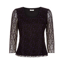 Buy Precis Petite Bubble Lace Top, Purple Online at johnlewis.com