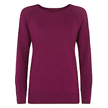 Buy Planet Crew Neck Jumper, Purple Online at johnlewis.com