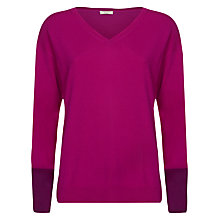 Buy Planet Wine Cuff Jumper, Fuchsia Online at johnlewis.com