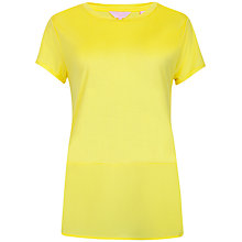 Buy Ted Baker Split Hem Contrast Panel Top, Yellow Online at johnlewis.com