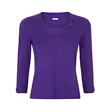 Buy Precis Petite Bow Detail Jumper, Purple Online at johnlewis.com