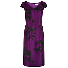 Buy Jacques Vert Floral Shadow Print Dress, Byzantium Online at johnlewis.com