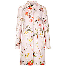 Buy Ted Baker Botanical Bloom Printed Coat, Pale Pink Online at johnlewis.com