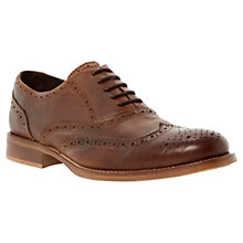 Buy Bertie Byron Brogue Shoes,Tan Online at johnlewis.com