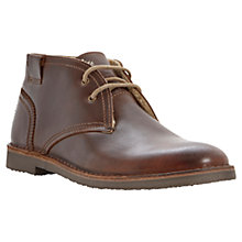Buy Bertie Clunk Leather Desert Boots, Brown Online at johnlewis.com