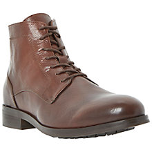 Buy Dune Credible Leather Boots, Brown Online at johnlewis.com