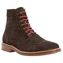 Buy Bertie Cambridge Heath Suede Brogue Boots, Brown Online at johnlewis.com