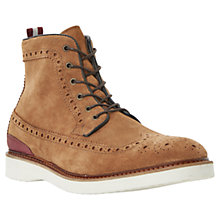 Buy Bertie Counter Suede Brogue Boots, Tan Online at johnlewis.com