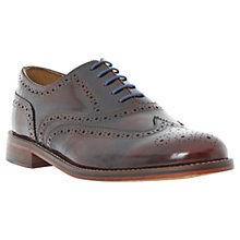 Buy Bertie Braxton Hishine Leather Brogue Shoes, Burgundy Online at johnlewis.com