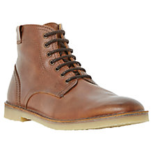 Buy Bertie Cigar Leather Lace Up Boots, Tan Online at johnlewis.com