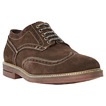 Buy Dune Birdcage Suede Brogues, Brown Online at johnlewis.com