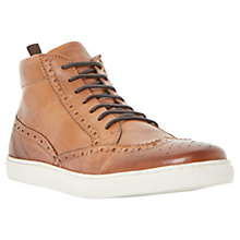 Buy Dune Stomper Brogue Hi-Top Leather Trainers Online at johnlewis.com