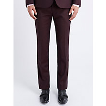Buy Ben Sherman Flat Front Camden Fit Suit Trousers, Oxblood Online at johnlewis.com