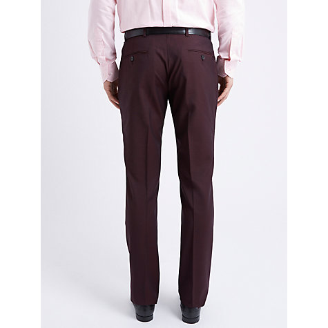 Buy Ben Sherman Slim Fit Flat Front Suit Trousers, Oxblood Online at johnlewis.com
