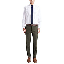 Buy Ben Sherman Tailoring Plain Poplin Shirt, Bright White Online at johnlewis.com