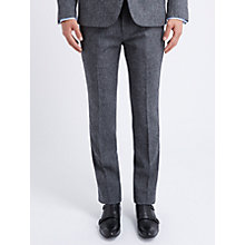 Buy Ben Sherman Tailoring Slim Fit Flat Front Tweed Suit Trousers, Smoked Pearl Online at johnlewis.com