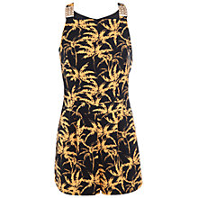 Buy Miss Selfridge Palm Print Playsuit, Assorted Online at johnlewis.com