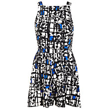 Buy Miss Selfridge Monochrome Scratch Playsuit, Assorted Online at johnlewis.com