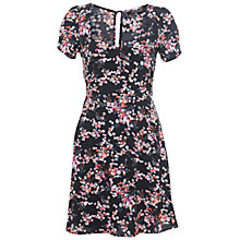 Buy Miss Selfridge Floral Tea Dress, Red Online at johnlewis.com