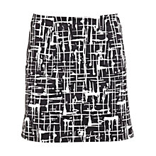 Buy Miss Selfridge Scratch Print Mini Skirt, Black Online at johnlewis.com