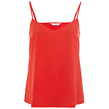 Buy Miss Selfridge V-neck Camisole, Red Online at johnlewis.com