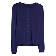 Buy Mango Embossed Polkadot Cardigan, Dark Blue Online at johnlewis.com