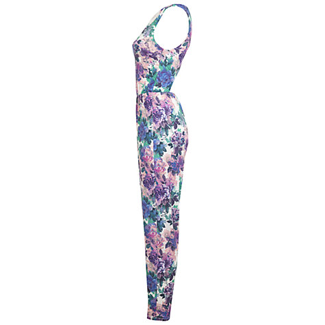Buy Miss Selfridge Floral Jumpsuit, Assorted Online at johnlewis.com