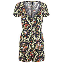 Buy Miss Selfridge Lace Floral Playsuit, Assorted Online at johnlewis.com