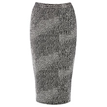 Buy Warehouse Scratchy Jacquard Co-ord Skirt, Black Pattern Online at johnlewis.com