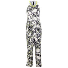 Buy Miss Selfridge Palm Print Necklace Jumpsuit, Assorted Online at johnlewis.com