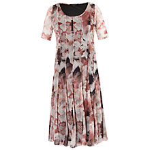 Buy Chesca Floral Mesh Dress, Powder Pink Online at johnlewis.com