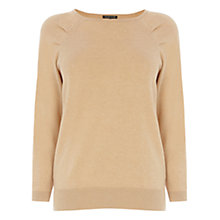 Buy Warehouse Interest Sleeve Jumper, Camel Online at johnlewis.com