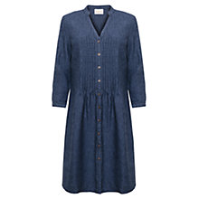 Buy East Cross Dye Dress, Indigo Online at johnlewis.com