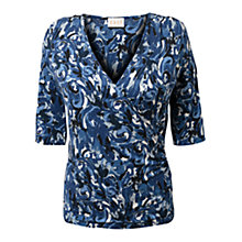 Buy East Brushstroke Jersey Top, Dusk Online at johnlewis.com