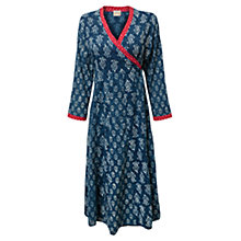 Buy East Chayla Combo Wrap Dress, Indigo Online at johnlewis.com
