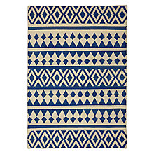 Buy John Lewis Modasa Rug, Indigo/White Online at johnlewis.com