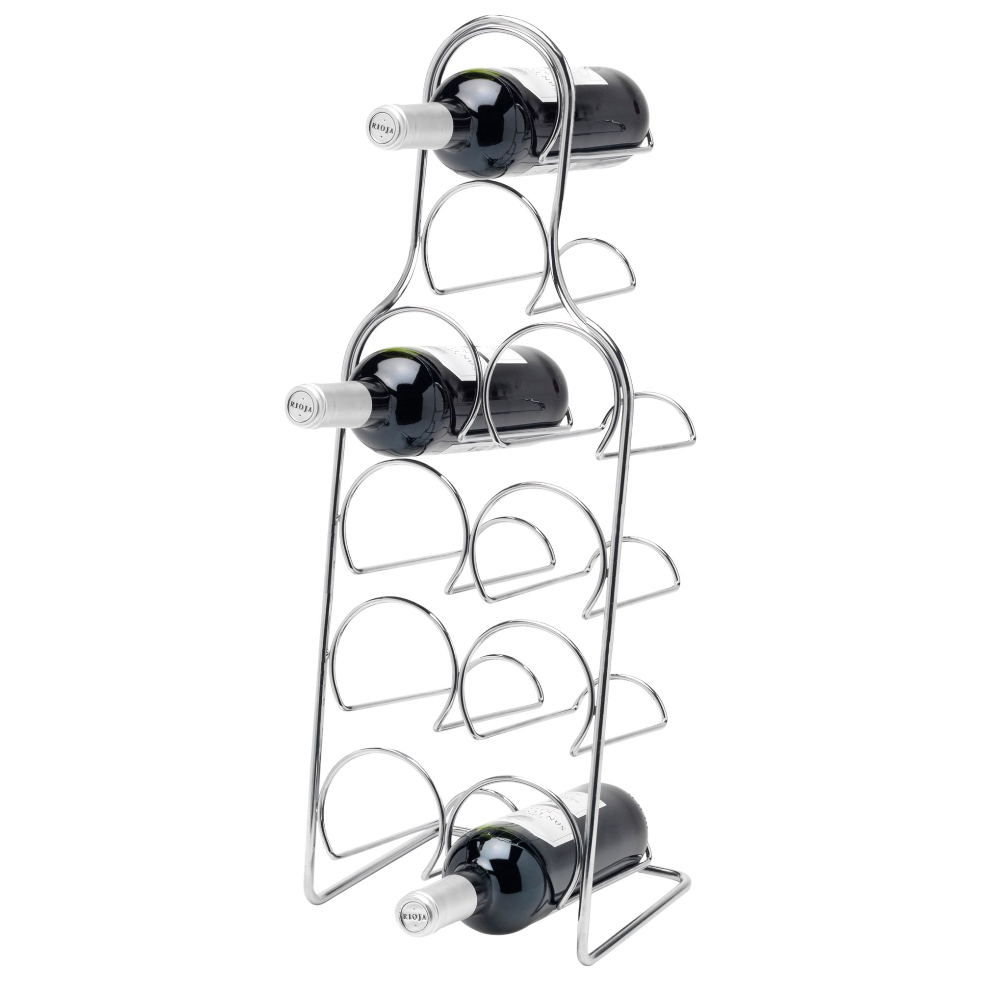 Hahn Hahn Pisa Metal Wine Rack, Chrome