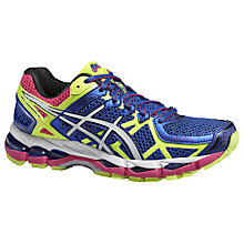 Buy Asics Gel-Kayano 21 Women's Running Shoes, Blue/Yellow Online at johnlewis.com