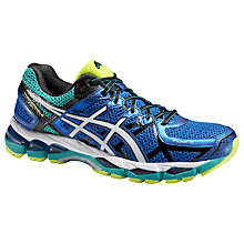 Buy Asics Gel-Kayano 21 Men's Running Shoes, Blue/White Online at johnlewis.com