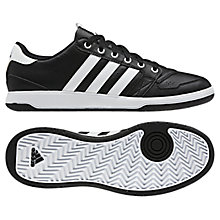Buy Adidas Oracle 3 Stripe Men's Trainers, Black/White Online at johnlewis.com
